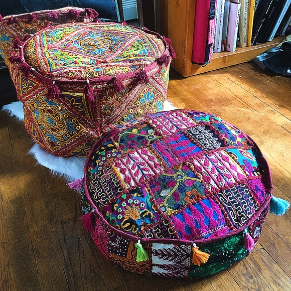 Other - NWT TWO MOROCCAN STYLE TEXTURED FLOOR PILLOWS
